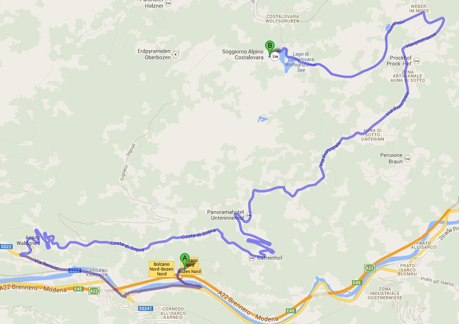 Come arrivare a costalovara for Soggiorno alpino costalovara
